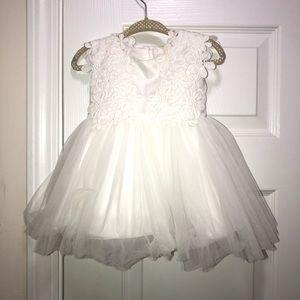Babies white tulle dress